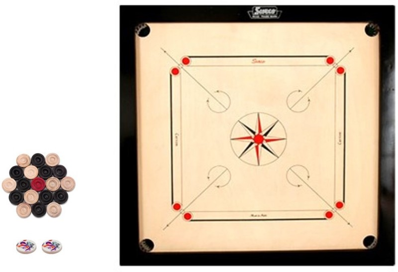 JD Sports medium 1.5 inch Carrom Board(Black)