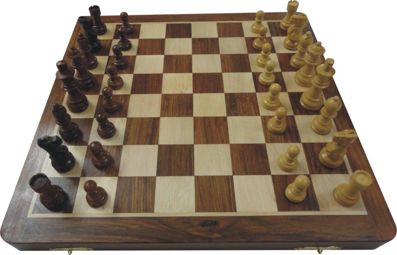Wasan Non Magnetic Big 14 inch Chess Board(Brown)