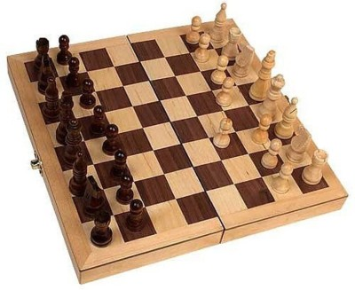 7Trees Wooden Folding 14 inch Chess Board