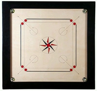 Crown Perfect 26 inch Carrom Board(White, Black, Brown)