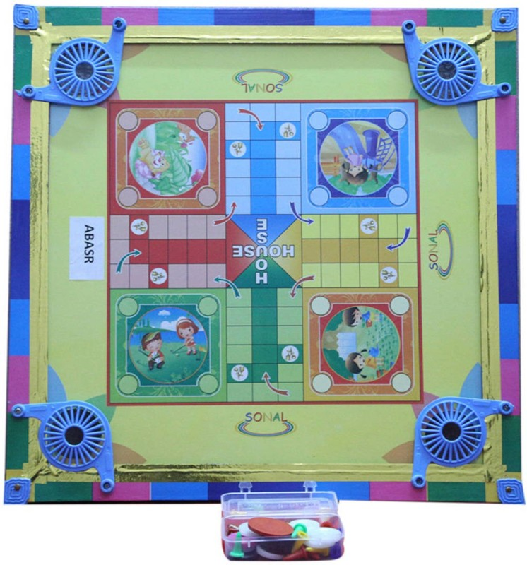 Abasr 001 2 inch Carrom Board(Multicolor)
