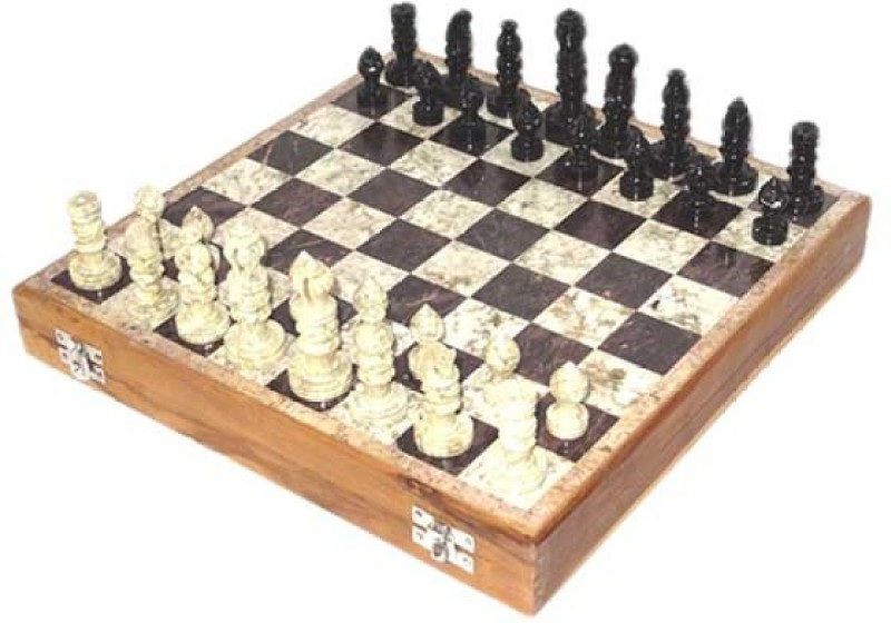 True Marble 10 inch Chess Board(Brown)