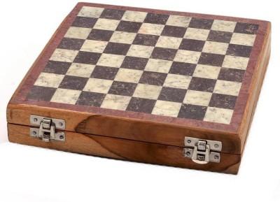 Radhey 20 Cm Shatranj Of White And Black Marble 8 inch Chess Board
