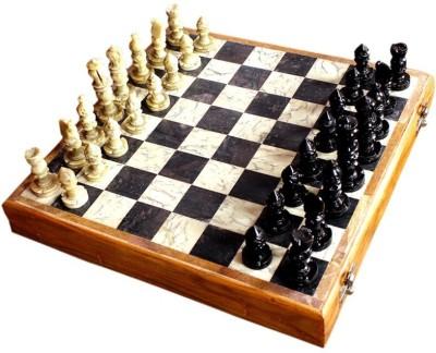 Radhey Marble Plaing Shatranj In Orignal Sizee 12 inch Chess Board