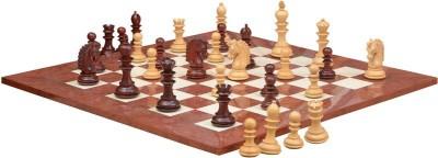 Chessbazaar Hurricane Luxury Series Set & Red Ash Burl Maple Hi Gloss Finish with Free Wooden Storage Box 4.7 inch Chess Board