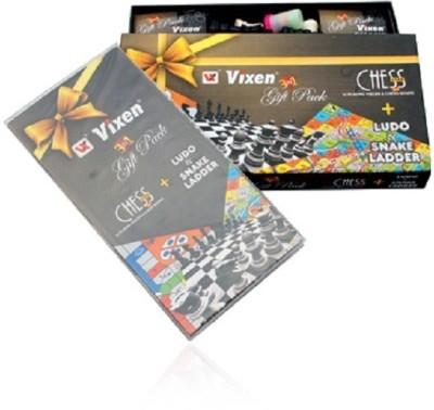 Vixen 3 in 1 Ludo Snake & Ladder 33 cm Chess Board