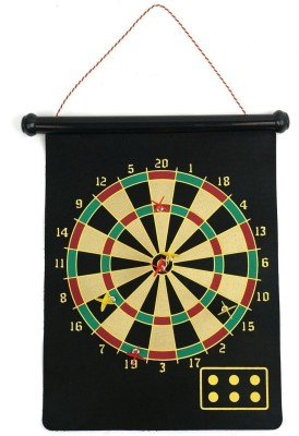 Options Magnetic Roll-Up And Bullseye Game 15 Inch 44 cm Dart Board(Black)