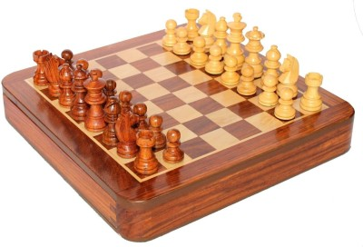 Stonkraft Collectible Wooden Chess Game Board Set, Wood Magnetic Crafted Pieces Board Game