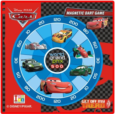 Disney Pixar-Cars Metallic Dart & Write-Wipe White Board Game With 3 Magnetic Darts And Marker 12 inch Dart Board