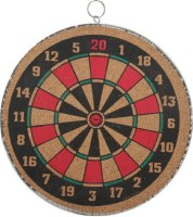 XS Vixen Both Side Playing 14 inch Dart Board(Black, Red)