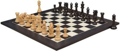 Chessbazaar French Warrior Luxury Set & Black Anigre Maple 4.9 inch Chess Board