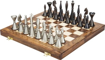 Chessncrafts Brass French Style 7.5 cm Chess Board