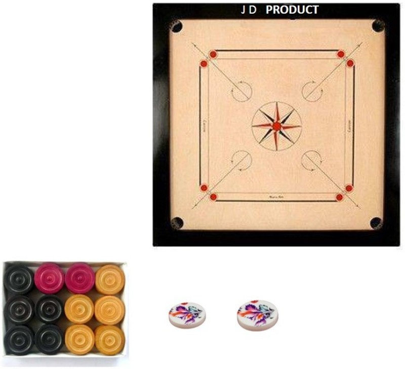 JD Sports medium for 12 year old 1.5 inch Carrom Board(Multicolor)