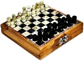 Anshul fashion Designer Handcrafted With Makrana Marble 2 inch Chess Board