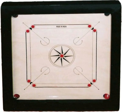 Raisco Classic 32 inch Carrom Board White, Brown, Black  available at Flipkart for Rs.1699