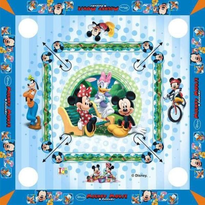 "Disney Mickey Mouse Carom Board 20 x 20"" inches Big Size & Board Game 1 inch Carrom Board available at Flipkart for Rs.599"