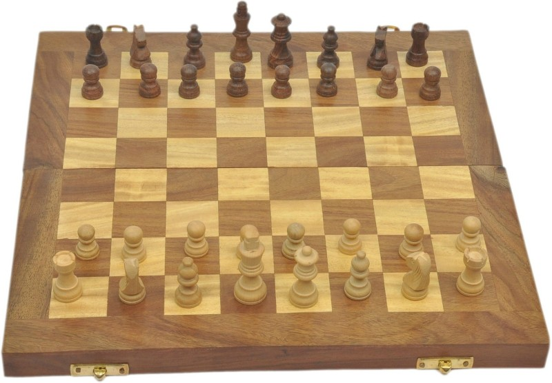 Artist Haat Beautiful Chess Board With Indian Rosewood 4 cm Chess Board(Brown)
