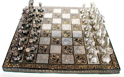 Stonkraft Collectible Premium Brass Made Chess Board Game Set, All Brass Pieces Board Game