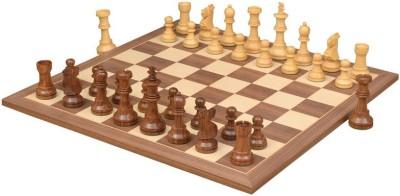 Chessbazaar Antique Series Set & Walnut / Maple Finish 4.5 inch Chess Board