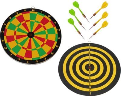 Vinex Small Board Deluxe Twelve Inch 12 inch Dart Board(Multicolor)