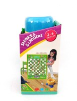 Akki Collection snake and ladder 35 cm Chess Board(Multicolor)