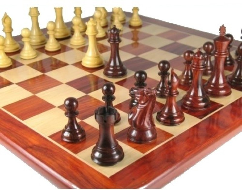 Chessbazaar Bud Rose Wood Set Chess Board