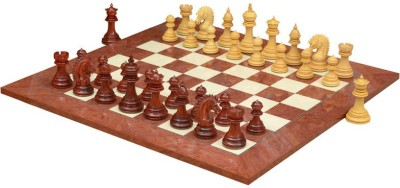 Chessbazaar Ferocious Elite Series Set & Red Ash Burl and Maple 4.3 inch Chess Board