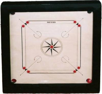 Rover Classic Full 33 inch Carrom Board(White)