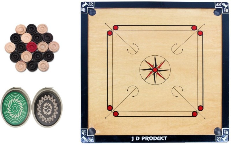 JD Sports 5star 1.5 inch Carrom Board(Black)