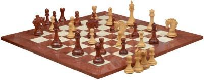 Chessbazaar Pegasus Series Artisan Staunton Set & Red Ash Burl Maple 4.5 inch Chess Board