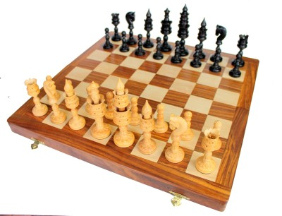 Stonkraft Collectible Wooden Chess Game Board Set, Wood Figure Pieces Board Game