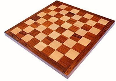 Stonkraft Collectible Rosewood Chess Game Board Without Pieces 16 inch Chess Board