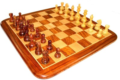 Stonkraft 21 Inch Collectible Premium Rose Wooden Chess Set Board Game