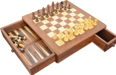 Chessncrafts 2 in 1 Game Chess Board