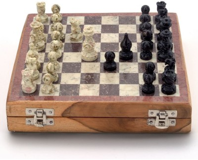 Kaushal Creation Real Makrana 2 inch Chess Board