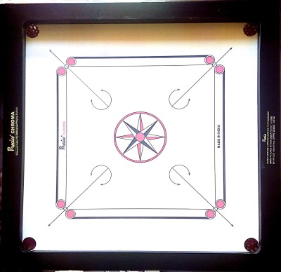 Precise Ameture Chroma 30 inch Carrom Board Brown  available at Flipkart for Rs.3899