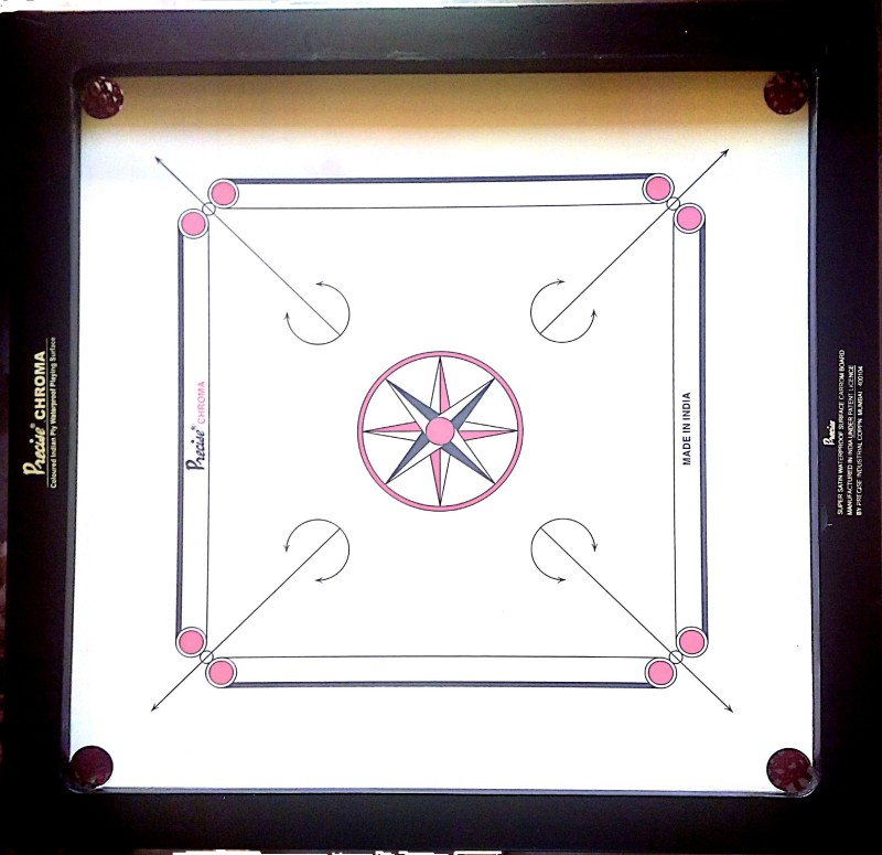 Precise Ameture Chroma 30 inch Carrom Board(Brown)