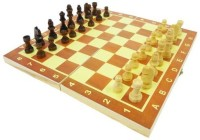 Vinto Wooden Chess and 32 Coins 14 inch Chess Board