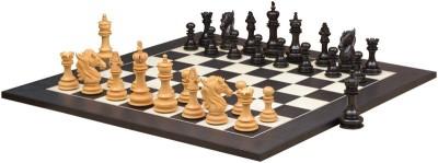 Chessbazaar Dragon KnightSeries Set & Black Anigre Maple Matte Finish 4.6 inch Chess Board