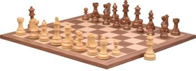 Chessbazaar Reproduced French Lardy Set & Walnut Maple Finish 3.7 inch Chess Board