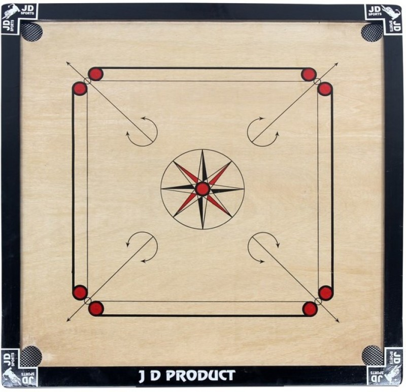 JD Sports 32inch 1.5 inch Carrom Board(Black)