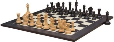 Chessbazaar Pegasus Series Artisan Staunton Set & Black Anigre Maple 4.5 inch Chess Board