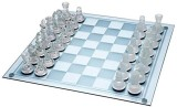 Dezire Chess glass 38 cm Chess Board (Wh...