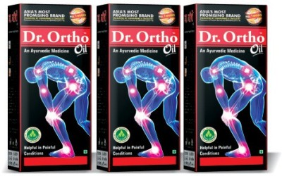 Dr Ortho Ayurvedic Complete Joint Pain Oil 120ML (Pack of 3) Oil