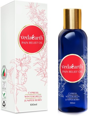 VedaEarth Pain Relief Oil with Cypress, Wintergreen, Juniper Berry Oil(100 ml)