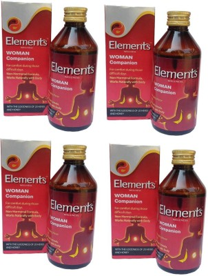 Elements Wellness Woman Companion (Combo of 4 Each 200 ml - Liquid)