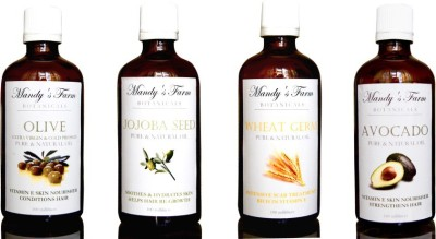 Mandy's Farm Mum,S Tum Massage Pack - 4 Pure & Natural Oils For New Mums