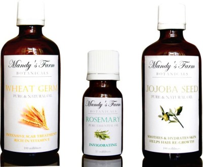 Mandy's Farm INTENSIVE SKIN REPAIR PACK FOR WOMEN - 3 Pure & Natural Essential and Massage Oils