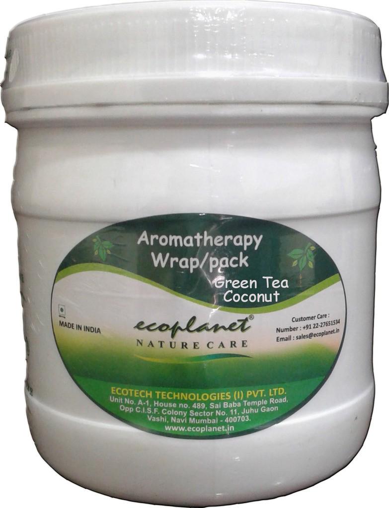 Ecoplanet Aromatherapy Body Wrap Green Tea Coconut(1000 g)