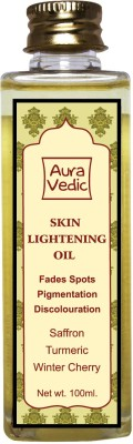 Auravedic Skin Lightening Oil with Saffron Turmeric Winter Cherry